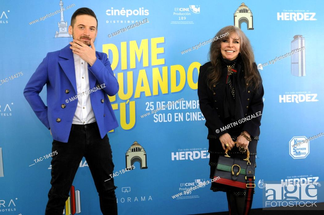Stock Photo: MEXICO CITY, MEXICO ñ DECEMBER 14: Actress Veronica Castro and Jesus Zabala during the press conference for the movie ëDime Cuando Tuí on December 14 2020 in.