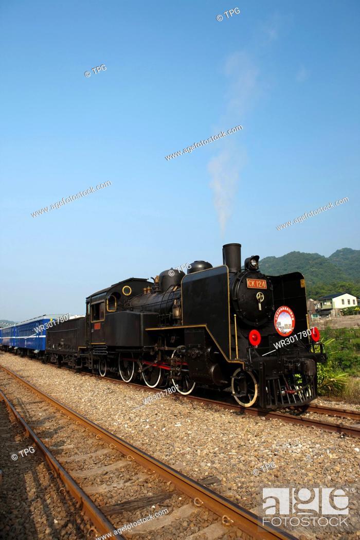 Stock Photo: CK124 steam train.