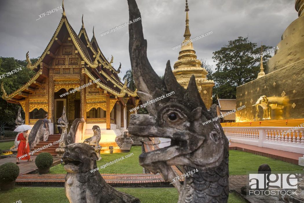 Stock Photo: Wat Phra Singh temple, Chiang Mai, Thailand.
