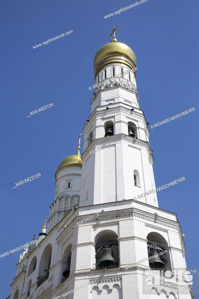 Stock Photo: Ivan the Great Bell Tower, Kremlin, UNESCO World Heritage Site, Moscow, Russia.