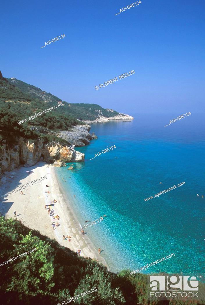 Stock Photo: Greece - Thessaly - Pelion - Mylopotamos.