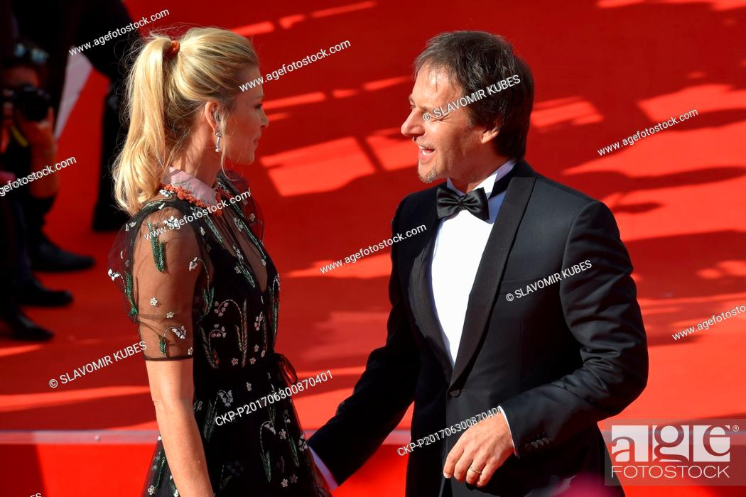 Model Daniela Pestova (left) and her husband Slovak singer