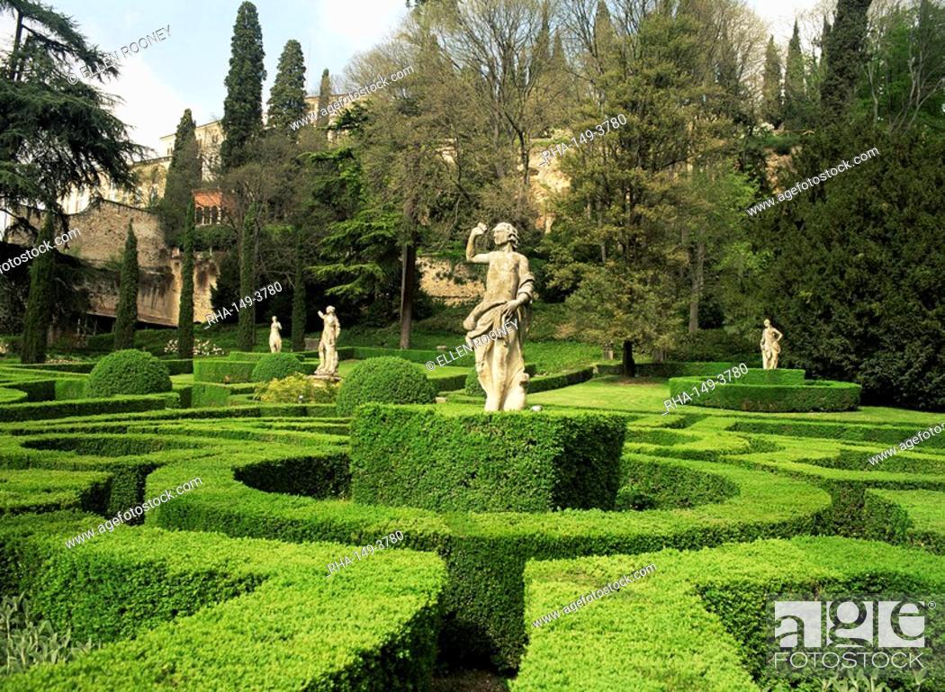 The renaissance gardens of the giardino giusti verona italy