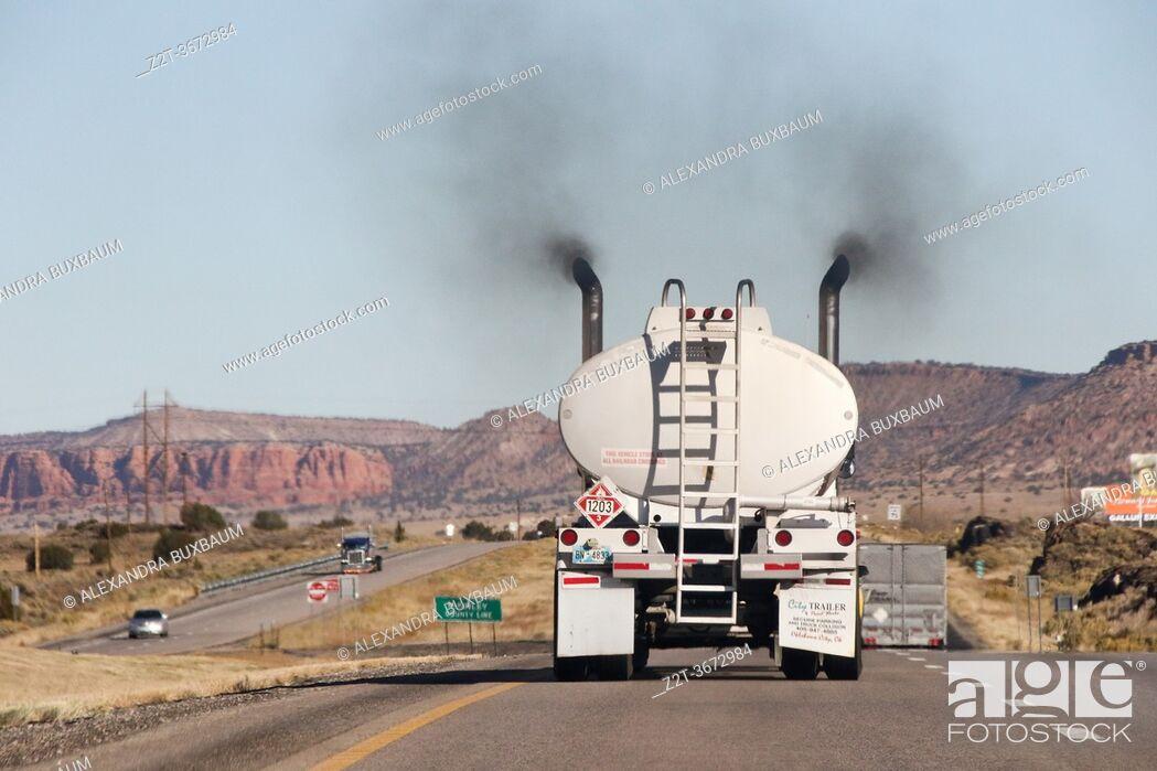 Stock Photo: Along I-40, New Mexico.