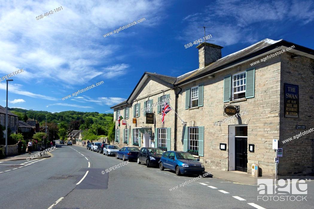 Stock Photo: UK, Cymru, Wales, Powys, Hay-on-Wye, The Swan Hotel.