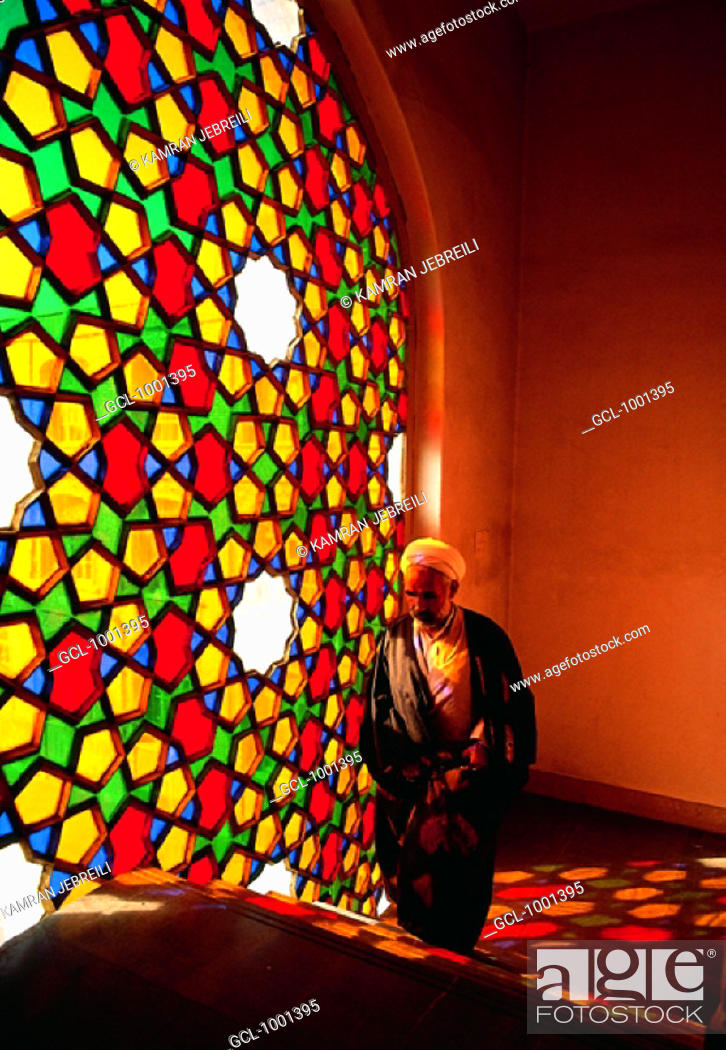 Stock Photo: Man in a mosque in Iran.