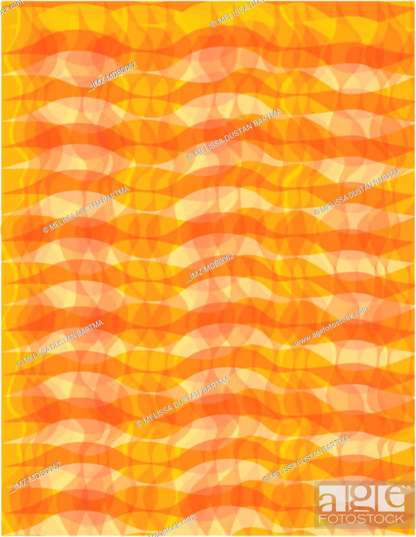 Stock Photo: An abstract orange wavy pattern.
