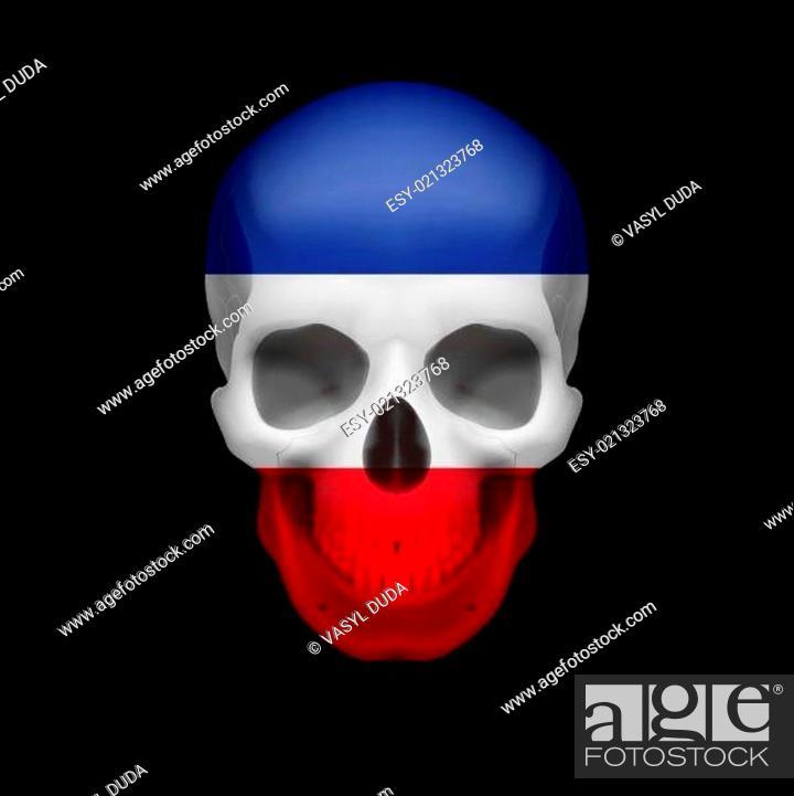 Stock Vector: Yugoslavian flag skull.