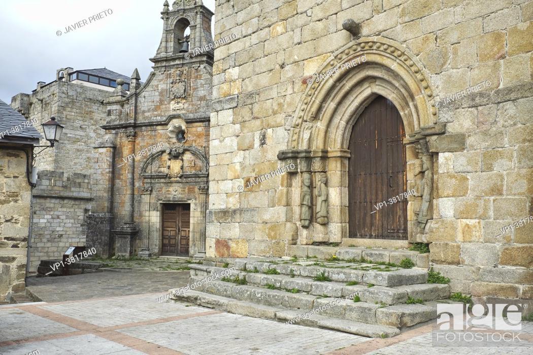 Imagen: Hermitage of San Cayetano and Romanesque doorway of the church of Nuestra Señora del Azogue. XII century. Puebla de Sanabria. Zamora. Castile and Leon.