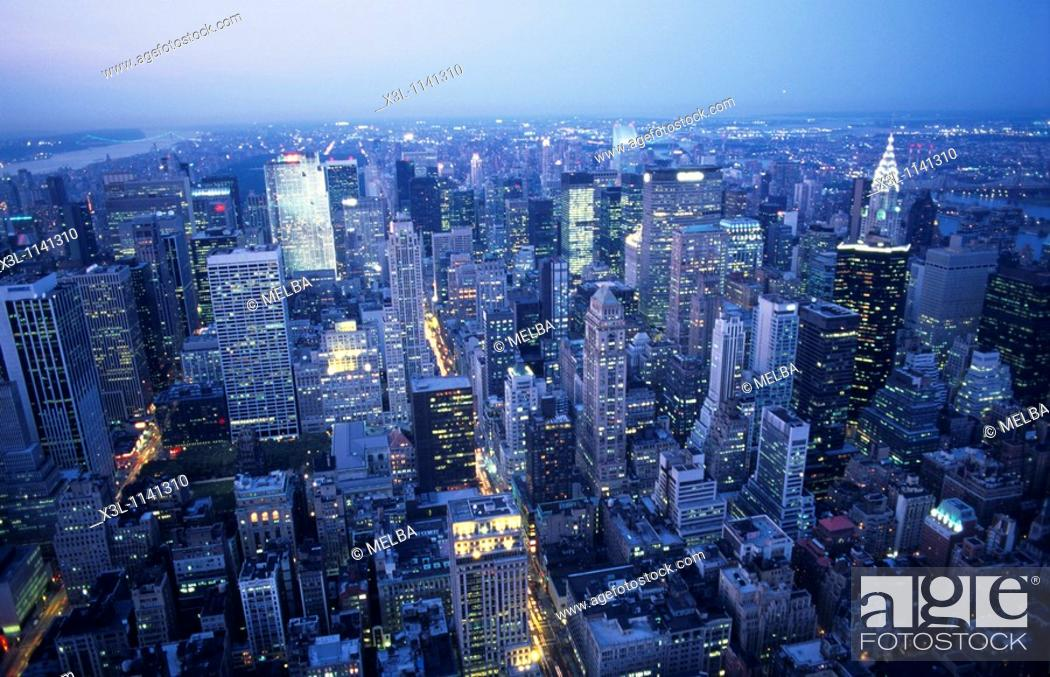 Stock Photo: Skyline of New York United States.