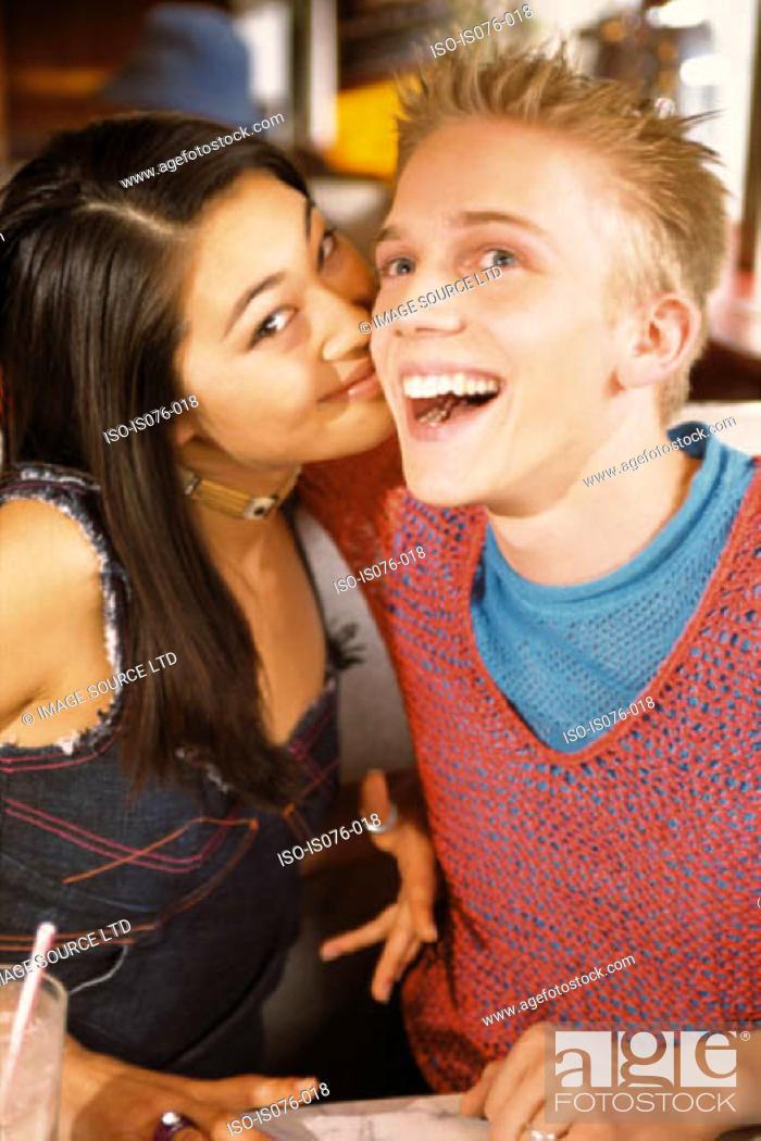 Stock Photo: Couple in bar.