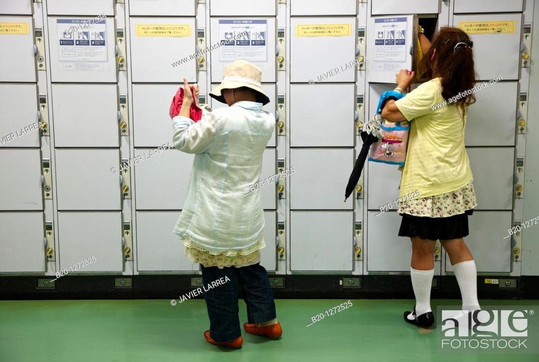 Stock Photo: Railway station, Shinjuku, Tokyo, Japan.