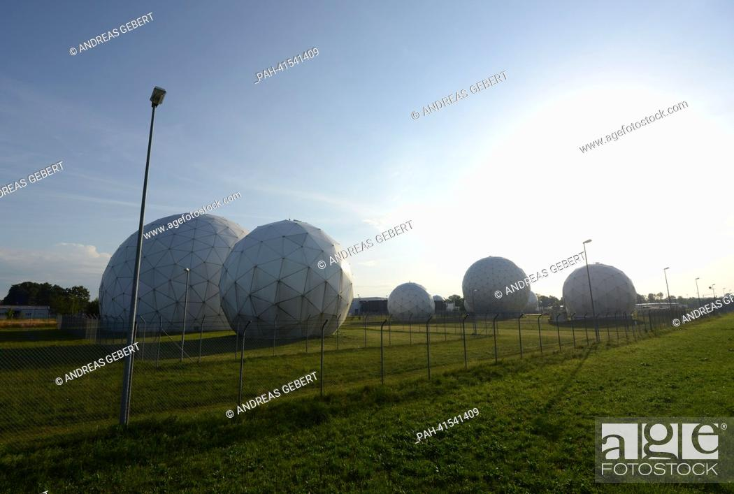 Radomes (radar domes) are pictured at the Bad Aibling Station near