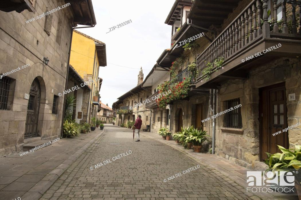Stock Photo: Cartes is a medieval village in Cantabria, Spain.