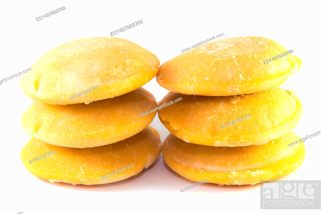 Photo de stock: Palm sugar on white background.