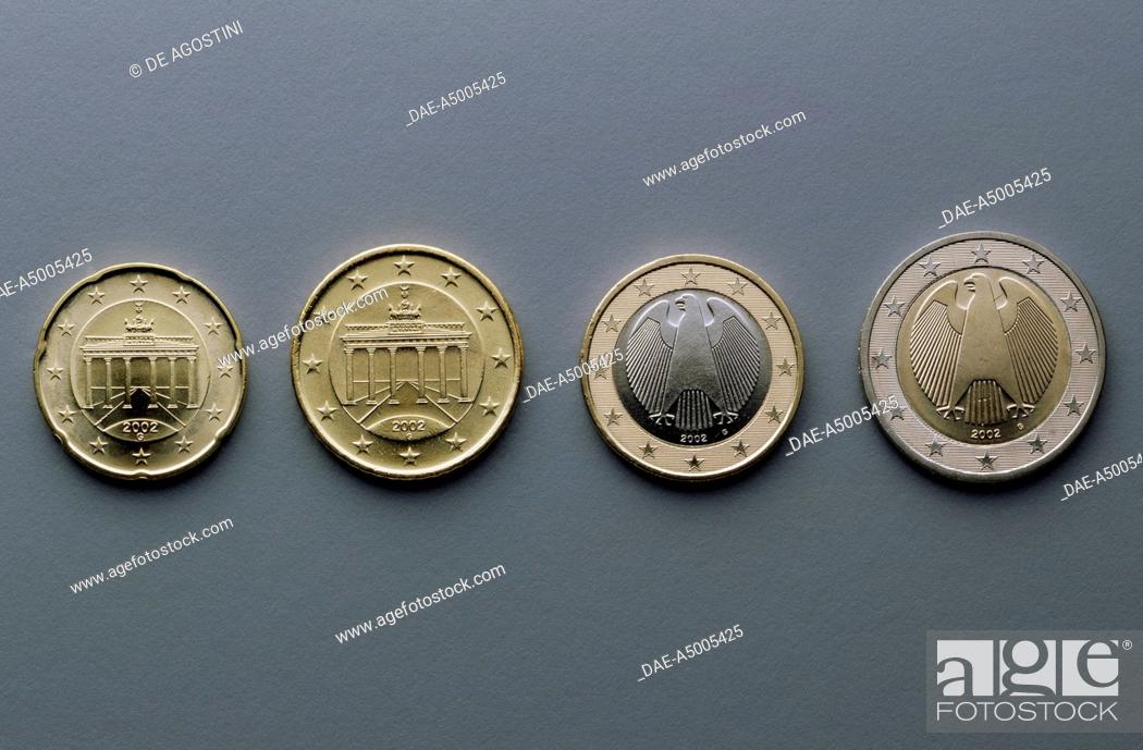 20 Cent 50 Cent 1 Euro And 2 Euro Coins Issued In Germany 2002 Stock Photo Picture And Rights Managed Image Pic Dae A5005425 Agefotostock