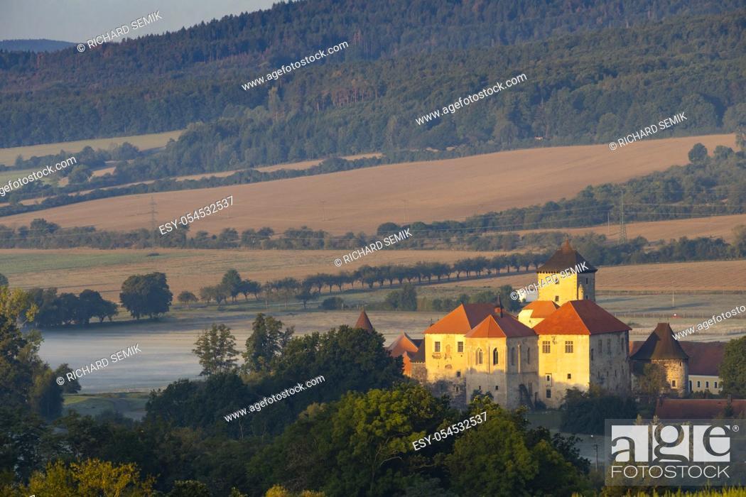 Stock Photo: Water castle Svihov near Klatovy, Southern Bohemia, Czech Republic.