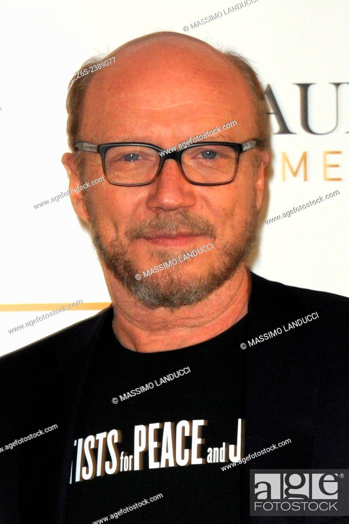 Stock Photo: paul haggis; haggis; director; celebtities; 2015;rome; italy;event; master class;acting.