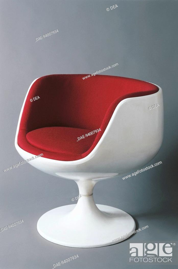 Stock Photo: Finland - 20th century. Armchair. Designer Eero Aarnio, 1969.