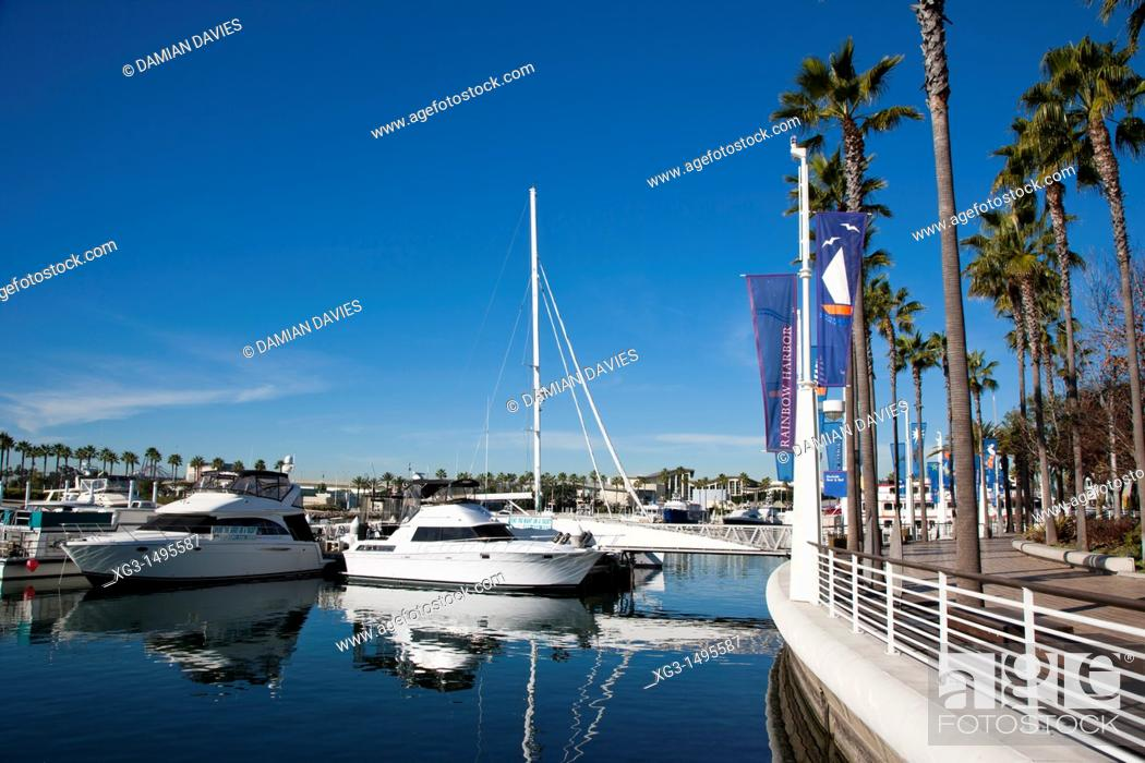 Imagen: Harbour, marina and waterfont at Long Beach, California, USA.