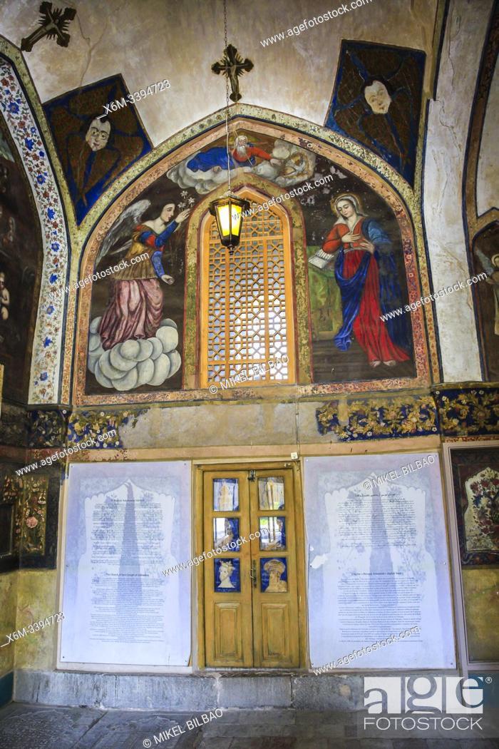 Imagen: Entrance. Vank Cathedral or Holy Savior Cathedral. New Julfa district. Isfahan, Iran. Asia.