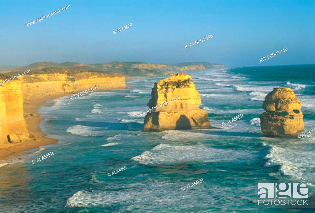 Stock Photo: Australia, Victoria, the Twelve Apostles.