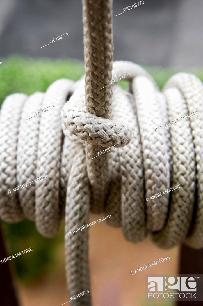 Stock Photo: Rope knot.