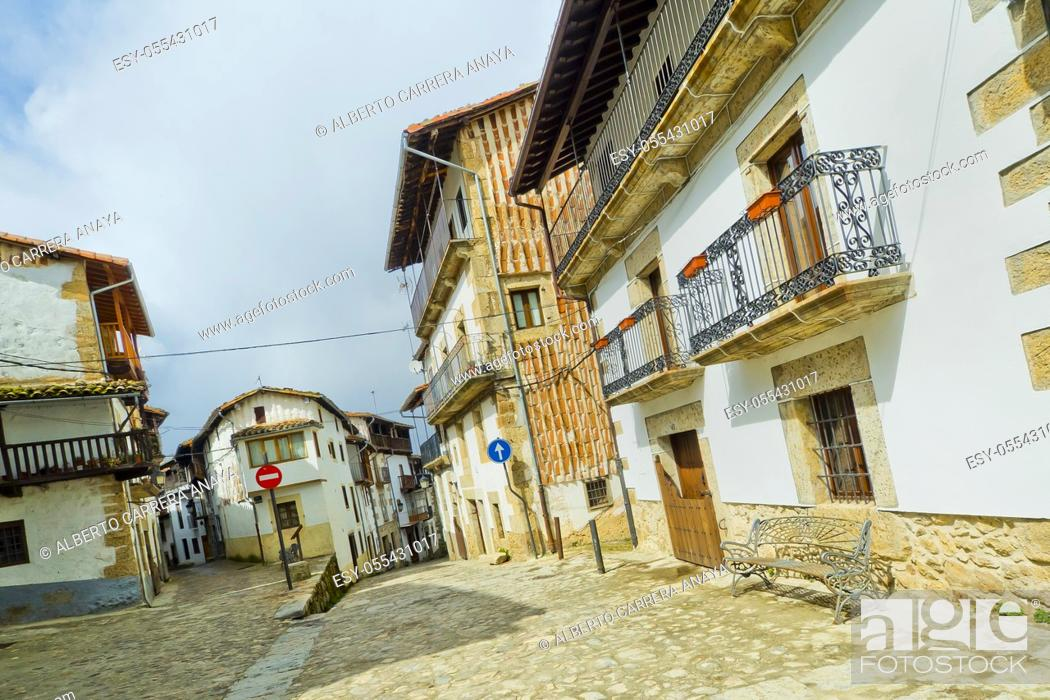 Stock Photo: Traditional Architecture, Candelario, Ruta de la Plata, Salamanca, Castilla y León, Spain, Europe.