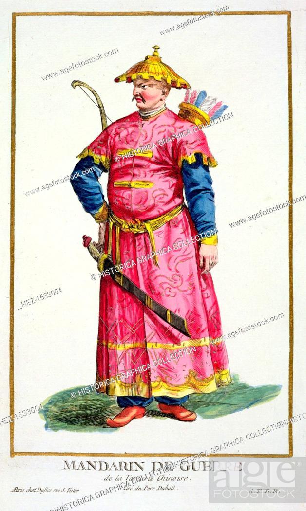 Stock Photo: A Mandarin warlord, 1780. From Receuil des Estampes, Representant les Rangs et les Dignites, suivant le Costume de toutes les Nations existantes.