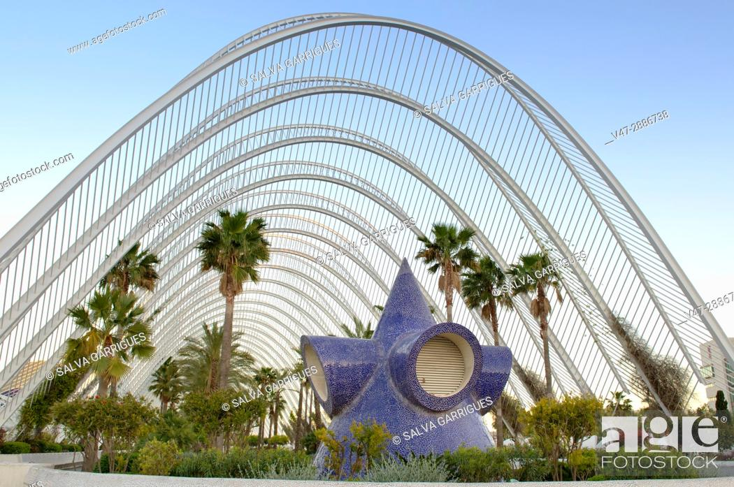 Stock Photo: Umbracle, City of Arts and Sciences, Valencia, Spain, Europe.