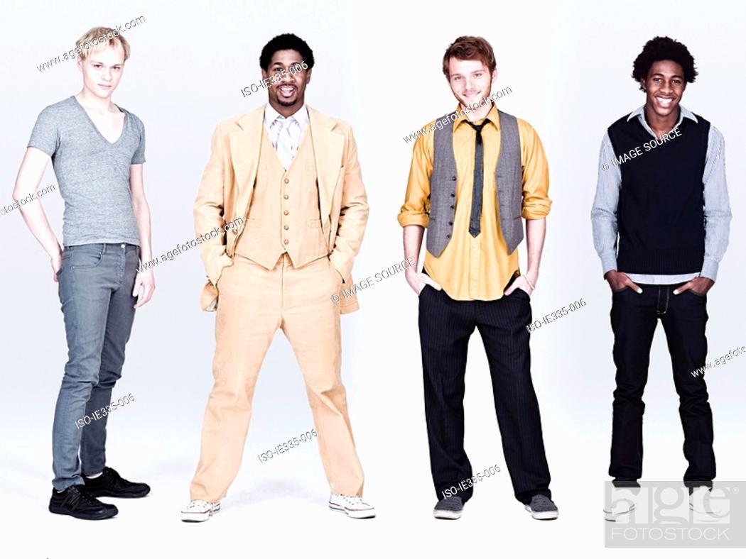 Stock Photo: Four stylish men.