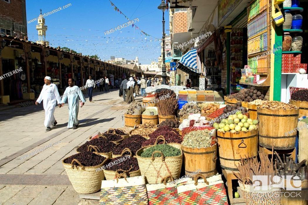 Stock Photo: Egypt, Upper Egypt, Nubia, Nile Valley, Aswan, souk.