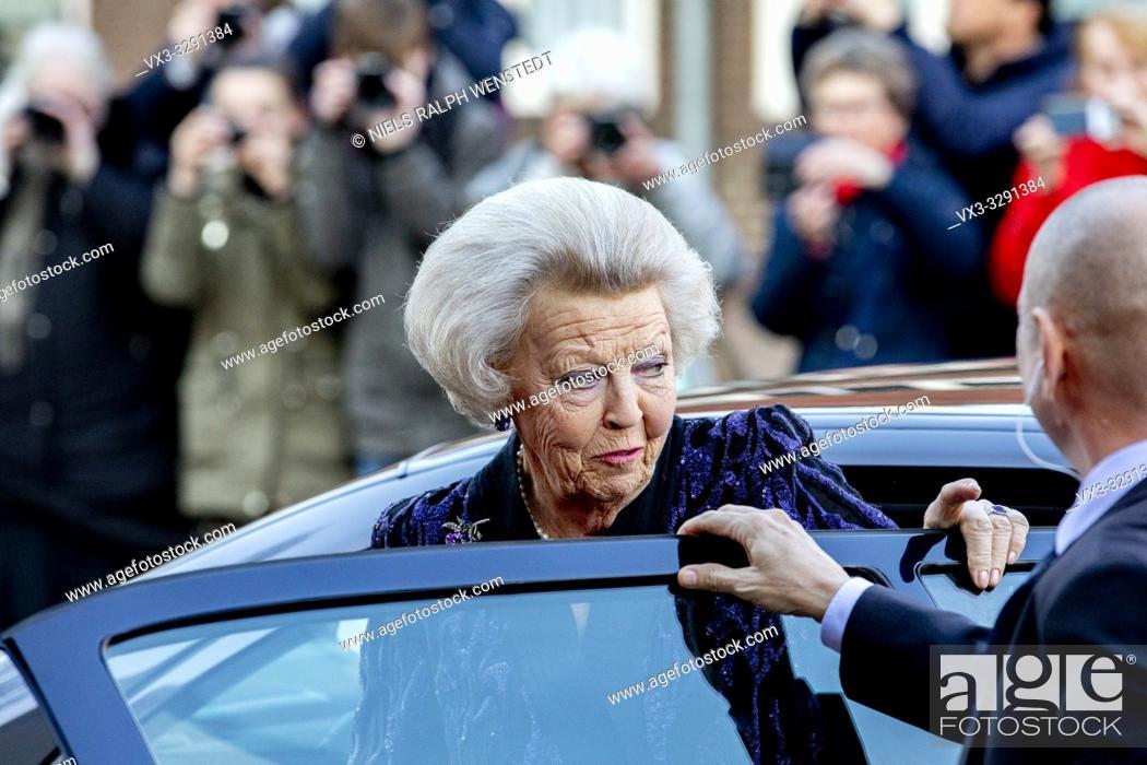 Stock Photo: AMERSFOORT - Dutch Princess Beatrix arrives at the Queensday concert in Amsersfoort.