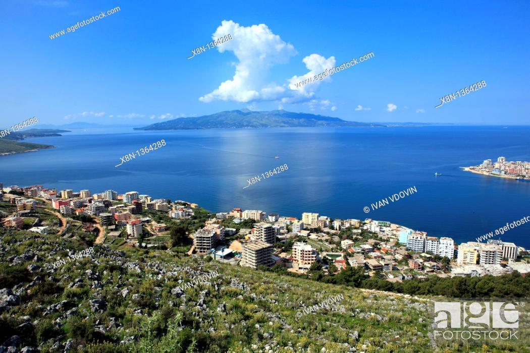 Stock Photo: Saranda Sarande, Albania.
