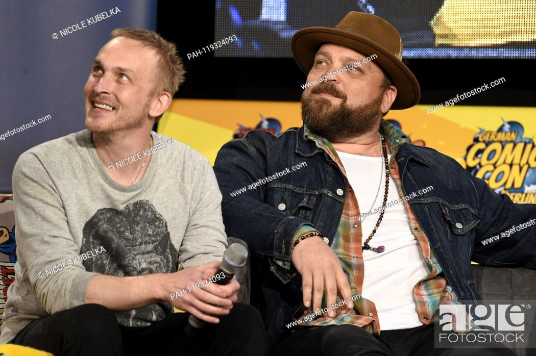 Stock Photo: Robin Lord Taylor and Drew Powell at the 5th German Comic Con Dortmund 2019 in the Westfalenhallen. Dortmund, 13.04.2019 | usage worldwide.