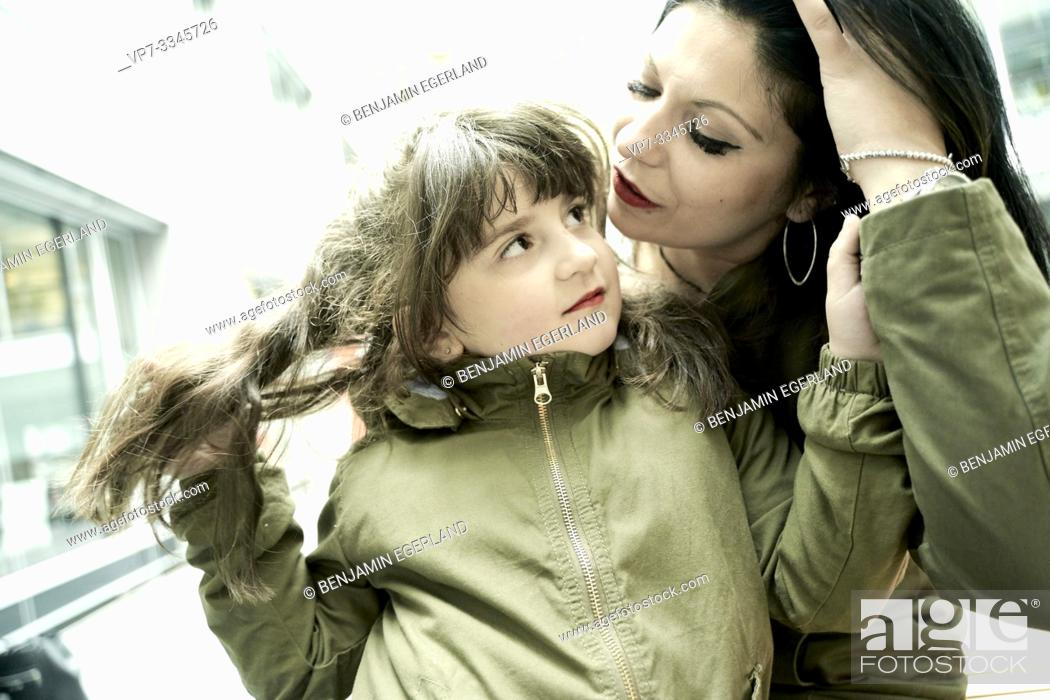 Stock Photo: loving mother with daughter.