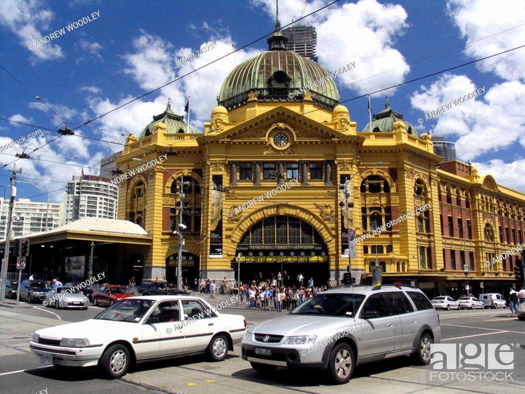 Stock Photo: Flinders Street Railway Station Melbourne Victoria Australia.