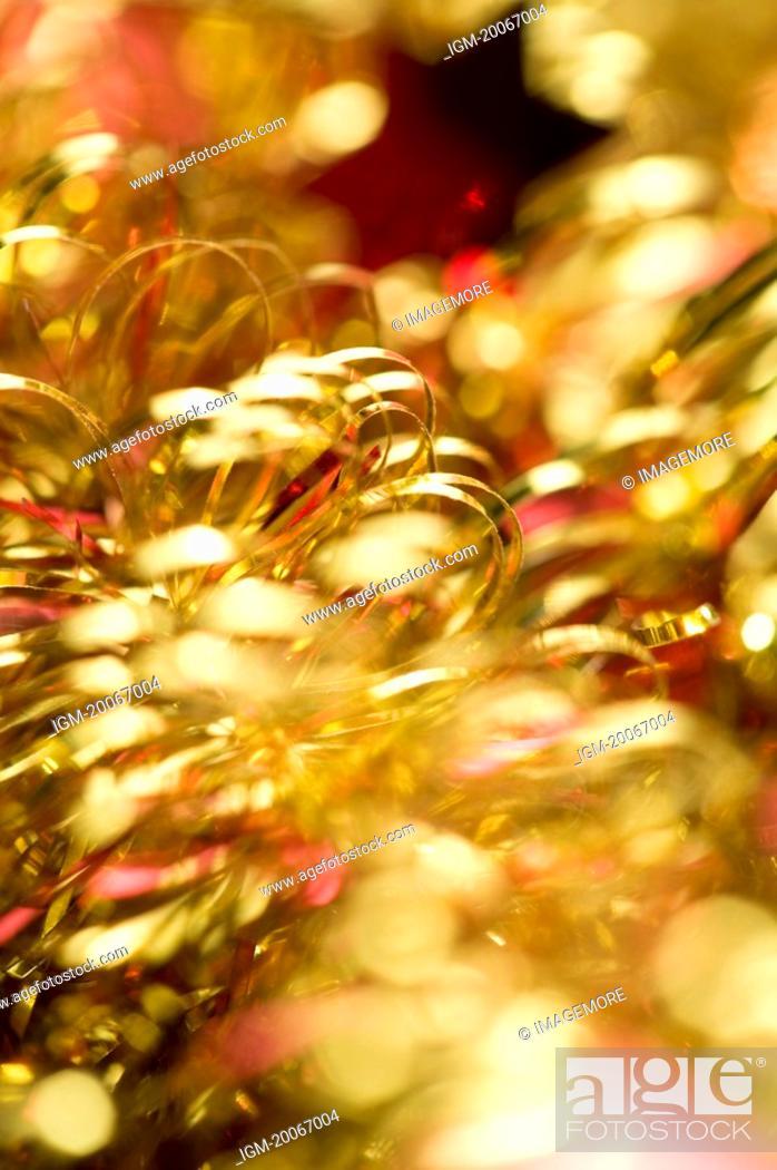 Stock Photo: Tinsel, close-up.