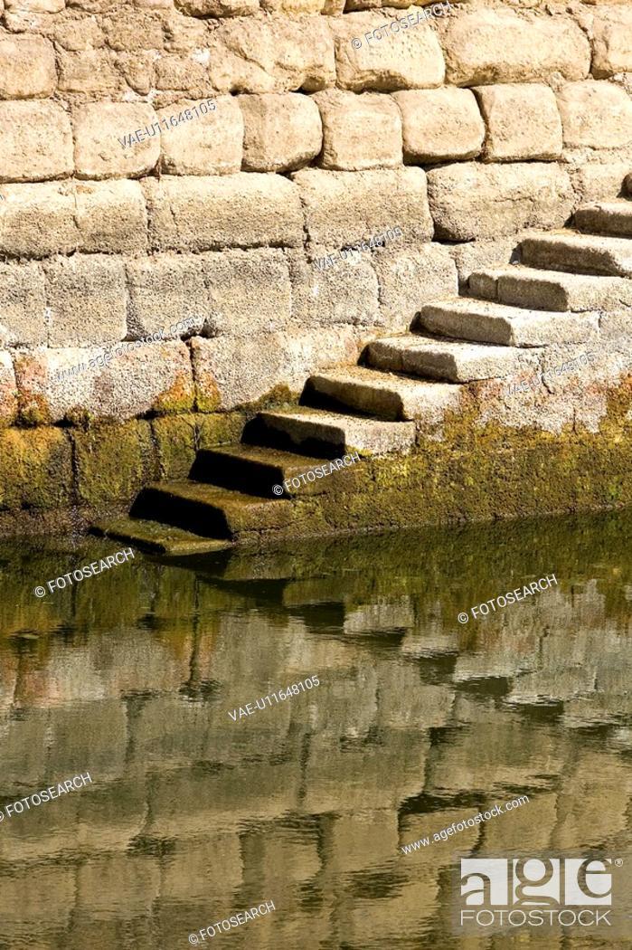 Stock Photo: Brick Wall, Fungus, Day, Ancient.