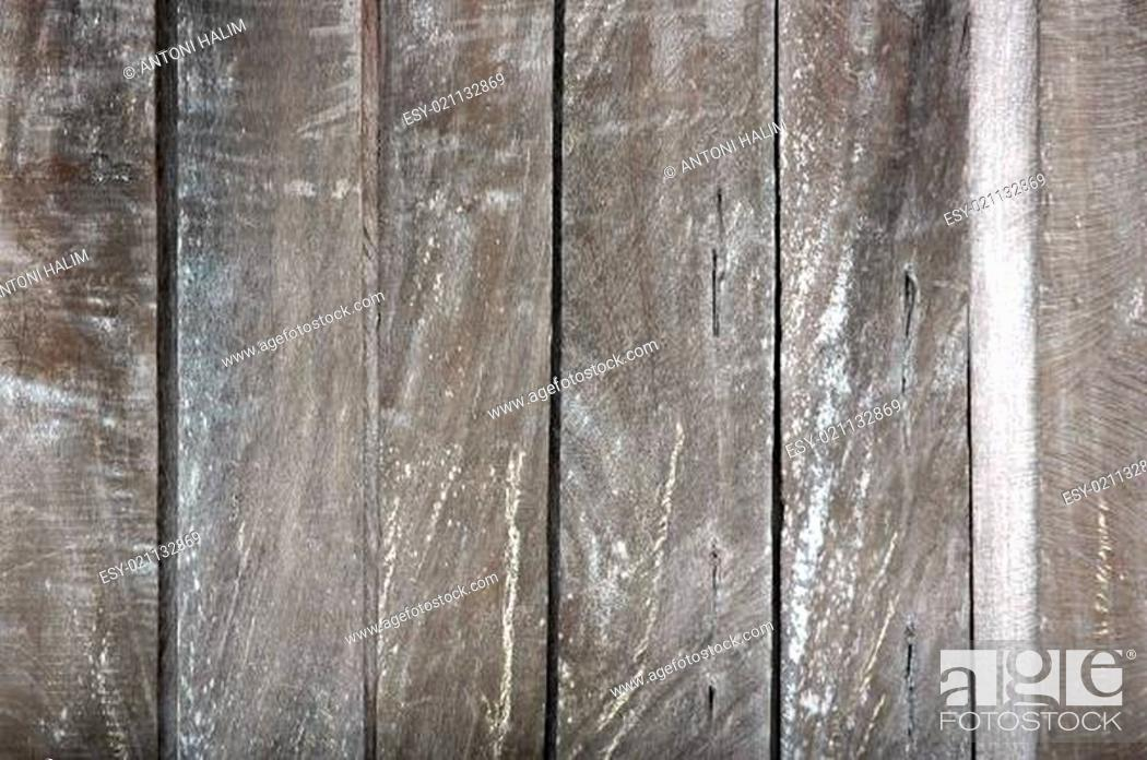 Stock Photo: old dark wooden wall textured.