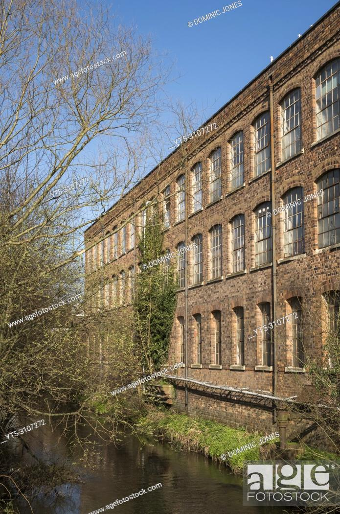 Stock Photo: Warehouse next to the River Stour , Kidderminster, Worcestershire, England, Europe.
