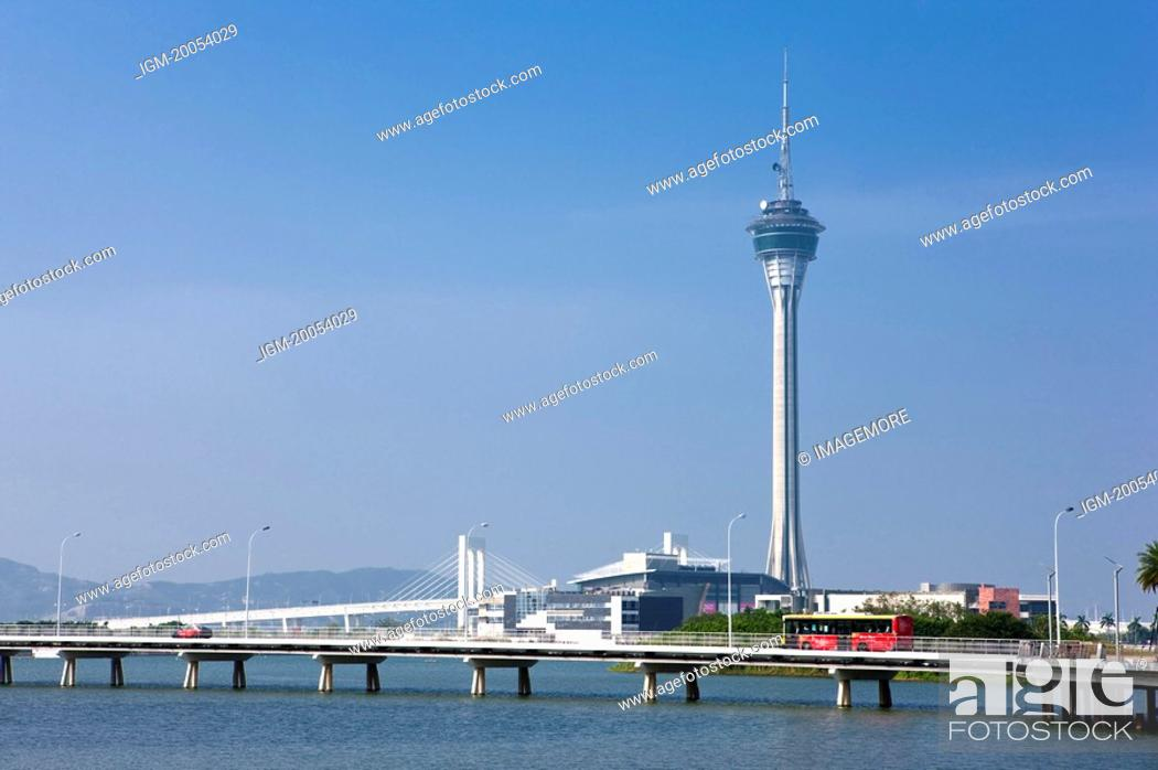 Stock Photo: China, Macou, Macau Tower.