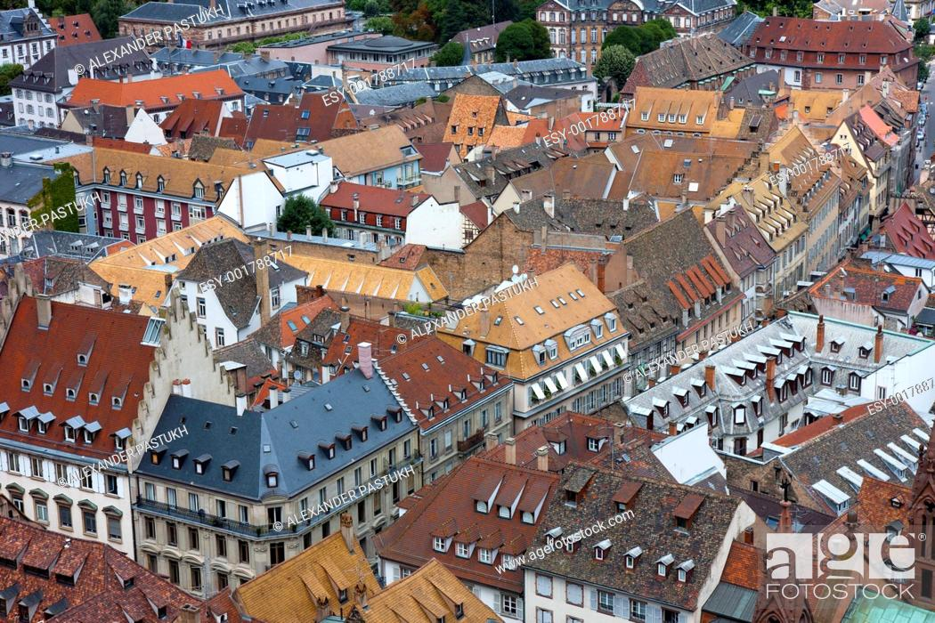 Stock Photo: Old house roofs.