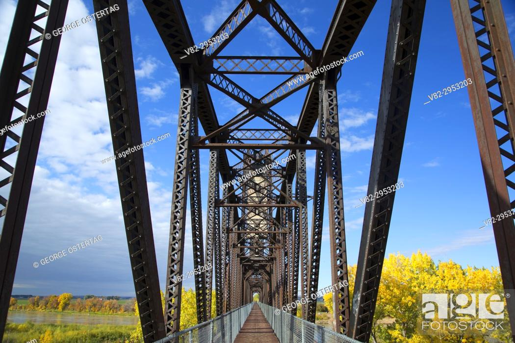 Stock Photo: Fairview Bridge, Sundheim Park, McKenzie County, North Dakota.