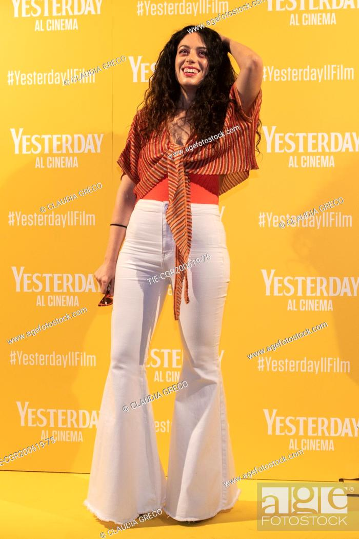 Imagen: Angelica during the photocall of film ' Yesterday ' in Milan, ITALY-20-06-2019.