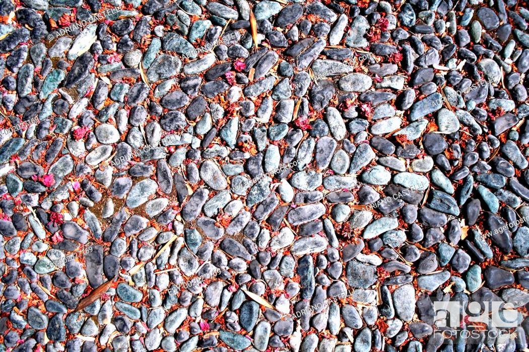 Stock Photo: Stones street texture.