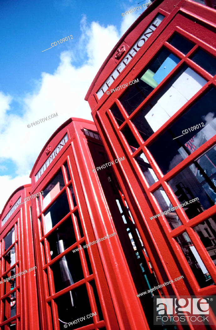 Stock Photo: Telephone booths. London. England.