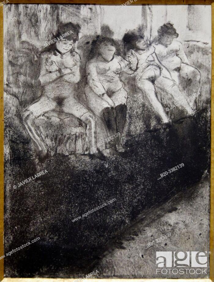 "Stock Photo: ""L'Attente (seconde version)"", 1879, Edgar Degas, Picasso Museum, Paris, France, Europe."