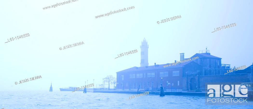 Stock Photo: Italy, Veneto, Venetian Laguna, Murano Island, Faro di Murano, Murano Light 1912.