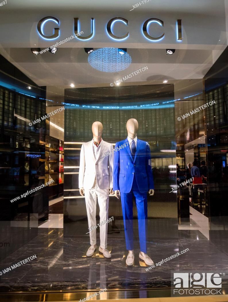 b04a45f7a Stock Photo - Gucci boutique at The Dubai Mall in Dubai United Arab Emirates .